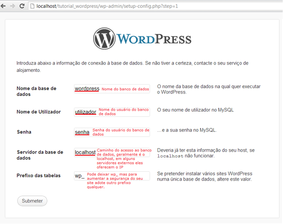 instalando wordpress 2